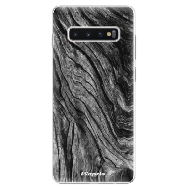 Plastové pouzdro iSaprio - Burned Wood - Samsung Galaxy S10+