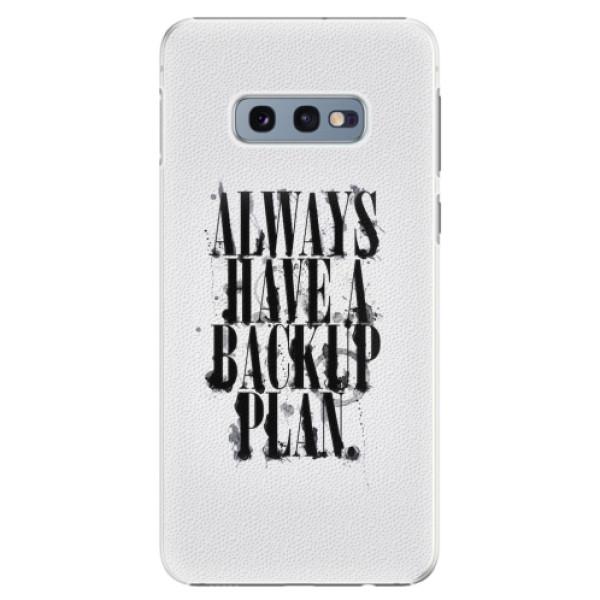 Plastové pouzdro iSaprio - Backup Plan - Samsung Galaxy S10e
