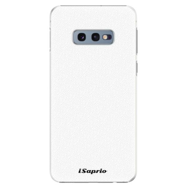 Plastové pouzdro iSaprio - 4Pure - bílý - Samsung Galaxy S10e