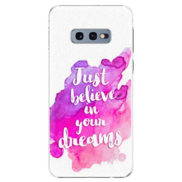 Plastové pouzdro iSaprio - Believe - Samsung Galaxy S10e