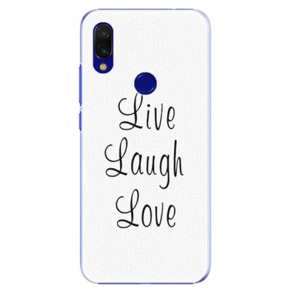 Plastové pouzdro iSaprio - Live Laugh Love - Xiaomi Redmi 7