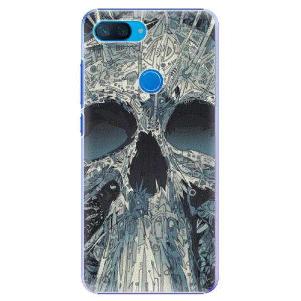Plastové pouzdro iSaprio - Abstract Skull - Xiaomi Mi 8 Lite