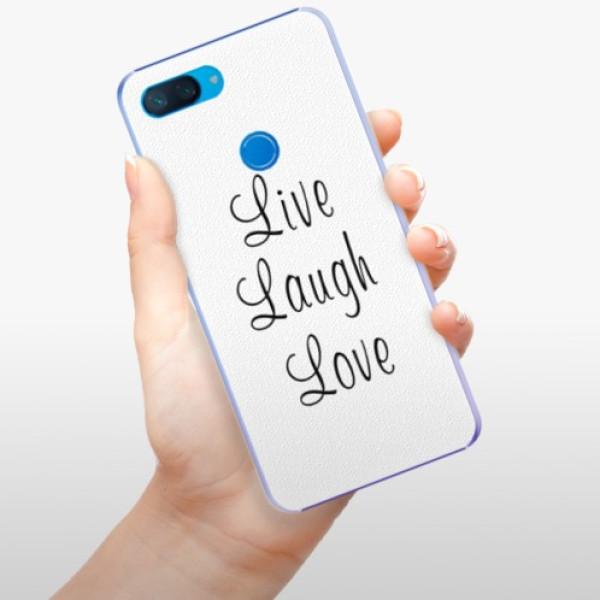 Plastové pouzdro iSaprio - Live Laugh Love - Xiaomi Mi 8 Lite