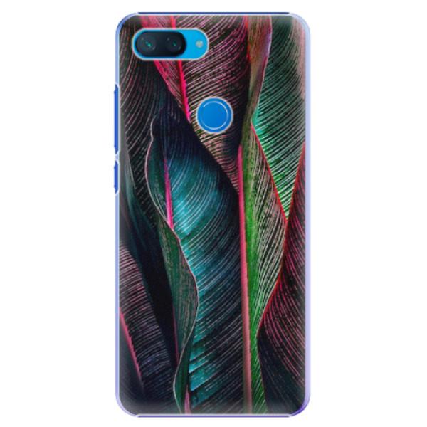 Plastové pouzdro iSaprio - Black Leaves - Xiaomi Mi 8 Lite