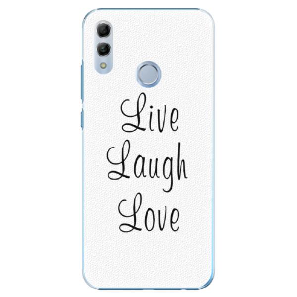 Plastové pouzdro iSaprio - Live Laugh Love - Huawei Honor 10 Lite