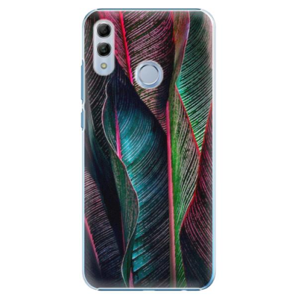 Plastové pouzdro iSaprio - Black Leaves - Huawei Honor 10 Lite
