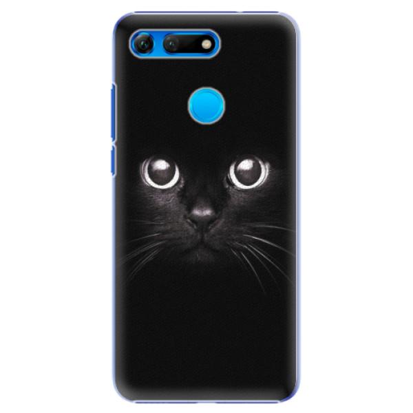 Plastové pouzdro iSaprio - Black Cat - Huawei Honor View 20