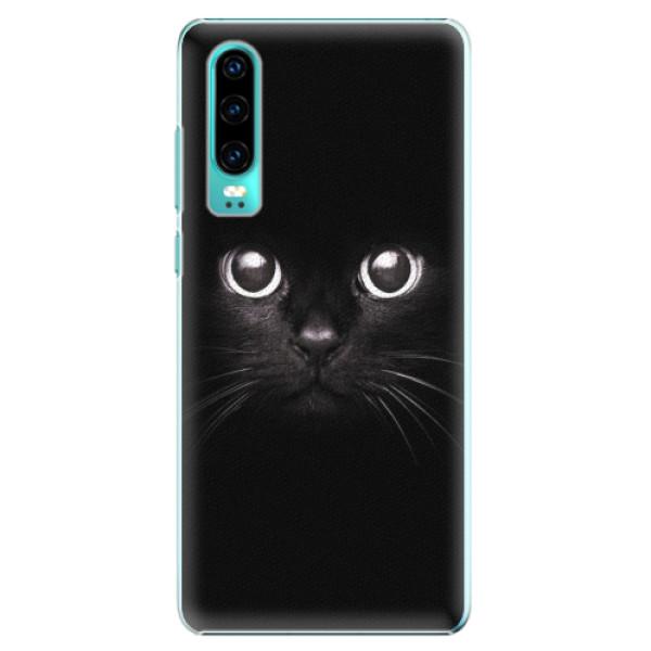 Plastové pouzdro iSaprio - Black Cat - Huawei P30