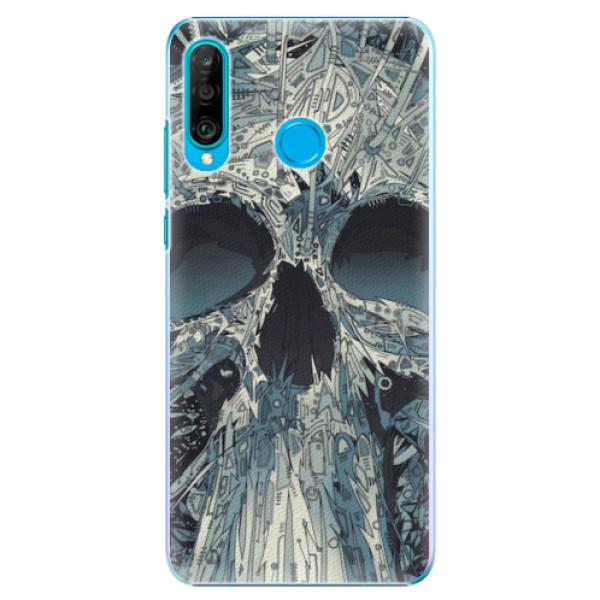 Plastové pouzdro iSaprio - Abstract Skull - Huawei P30 Lite
