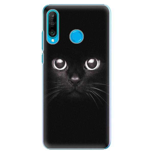 Plastové pouzdro iSaprio - Black Cat - Huawei P30 Lite