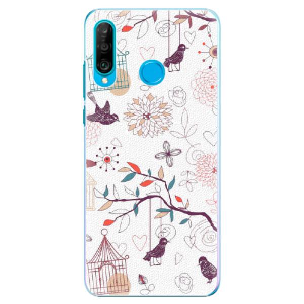 Plastové pouzdro iSaprio - Birds - Huawei P30 Lite