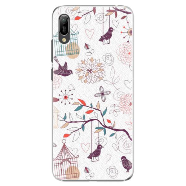 Plastové pouzdro iSaprio - Birds - Huawei Y6 2019
