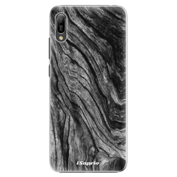 Plastové pouzdro iSaprio - Burned Wood - Huawei Y6 2019