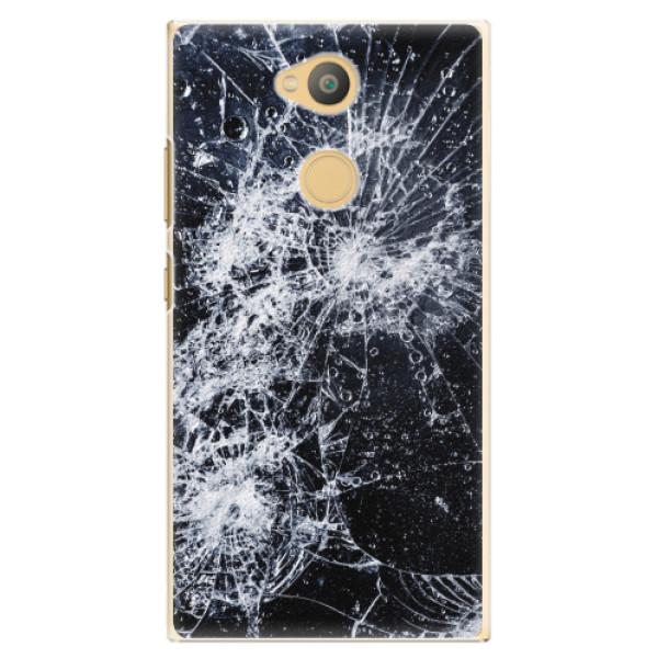 Plastové pouzdro iSaprio - Cracked - Sony Xperia L2