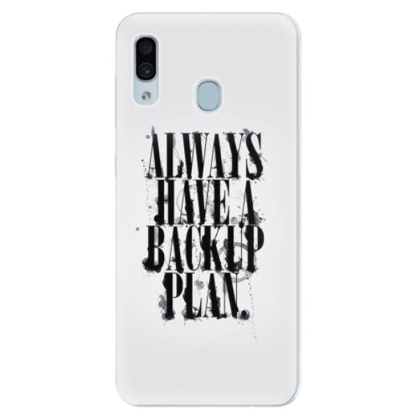 Silikonové pouzdro iSaprio - Backup Plan - Samsung Galaxy A30