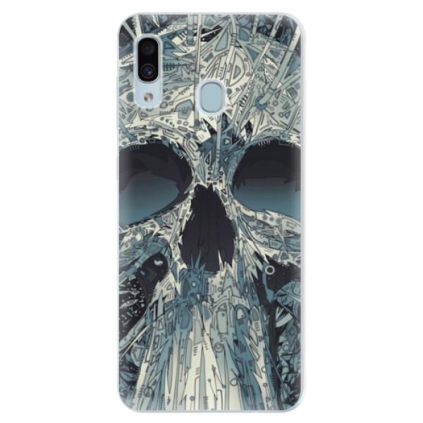 Silikonové pouzdro iSaprio - Abstract Skull - Samsung Galaxy A30