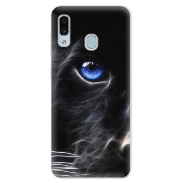 Silikonové pouzdro iSaprio - Black Puma - Samsung Galaxy A30