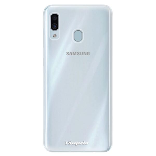 Silikonové pouzdro iSaprio - 4Pure - mléčný bez potisku - Samsung Galaxy A30