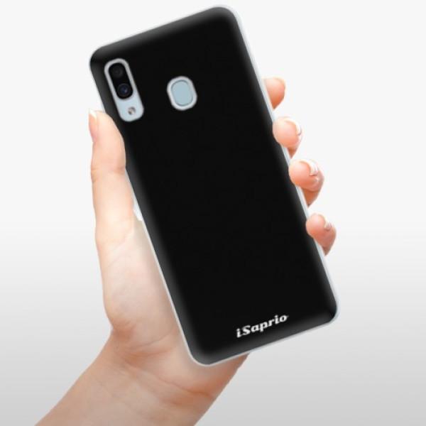 Silikonové pouzdro iSaprio - 4Pure - černý - Samsung Galaxy A30