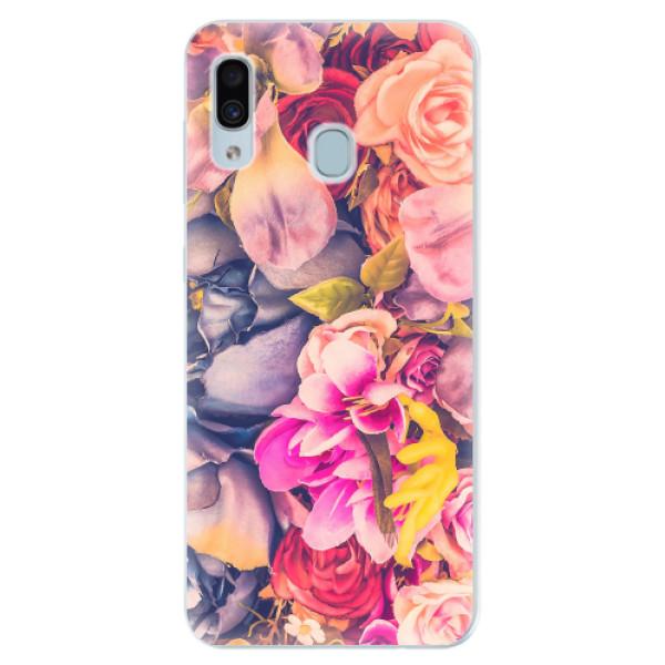 Silikonové pouzdro iSaprio - Beauty Flowers - Samsung Galaxy A30