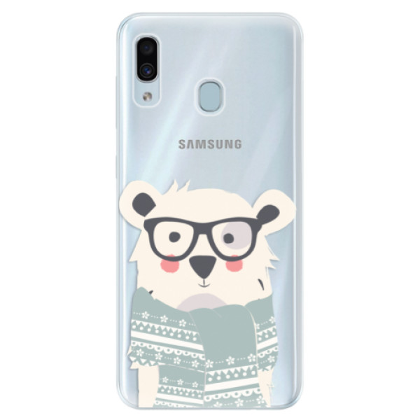 Silikonové pouzdro iSaprio - Bear with Scarf - Samsung Galaxy A30