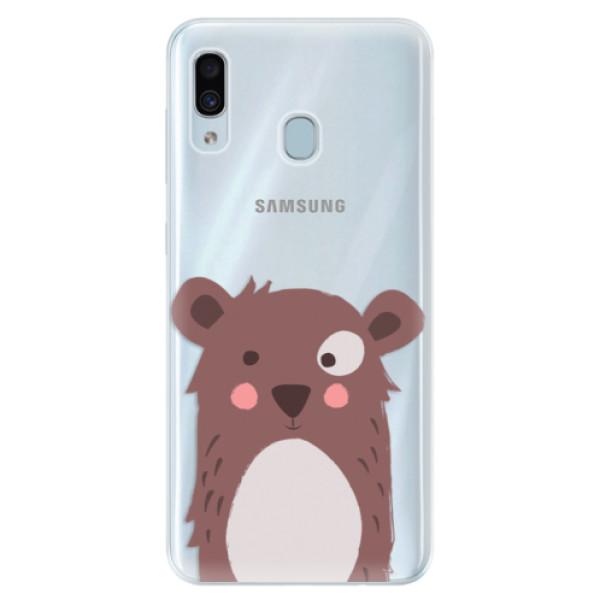 Silikonové pouzdro iSaprio - Brown Bear - Samsung Galaxy A30