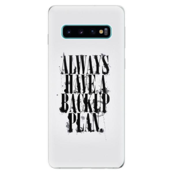 Odolné silikonové pouzdro iSaprio - Backup Plan - Samsung Galaxy S10
