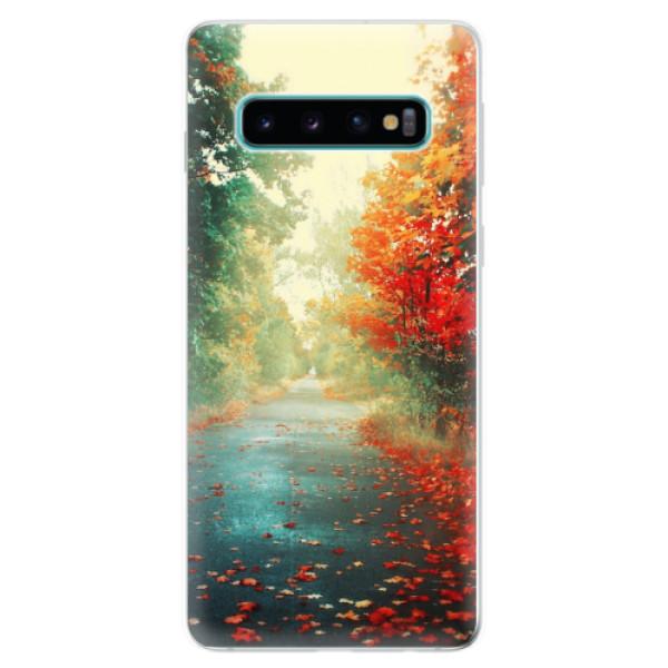 Odolné silikonové pouzdro iSaprio - Autumn 03 - Samsung Galaxy S10