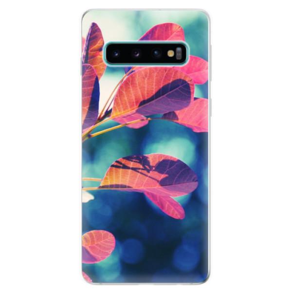 Odolné silikonové pouzdro iSaprio - Autumn 01 - Samsung Galaxy S10