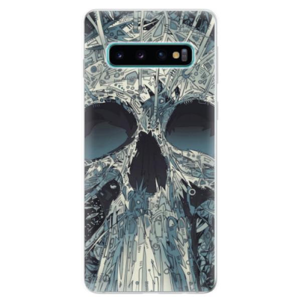 Odolné silikonové pouzdro iSaprio - Abstract Skull - Samsung Galaxy S10