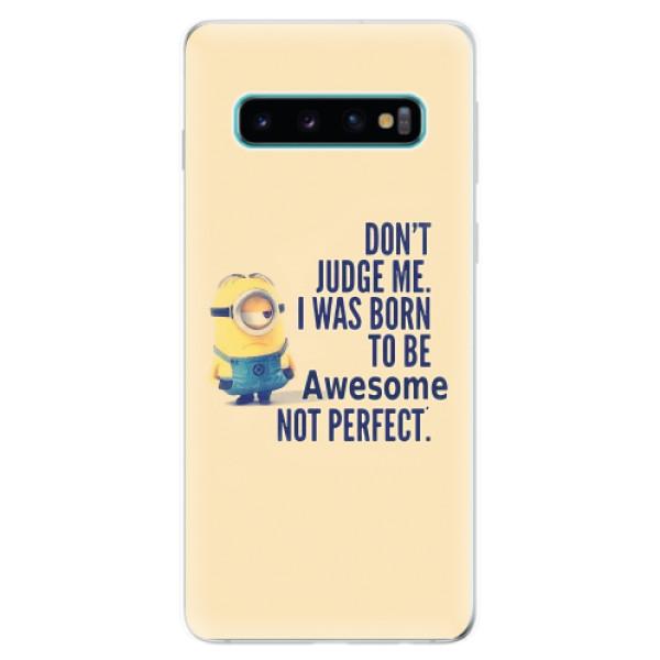 Odolné silikonové pouzdro iSaprio - Be Awesome - Samsung Galaxy S10