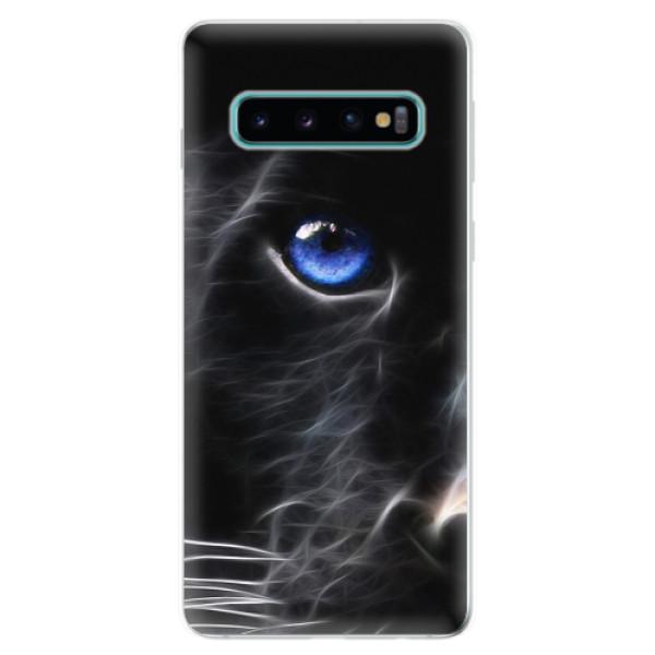 Odolné silikonové pouzdro iSaprio - Black Puma - Samsung Galaxy S10