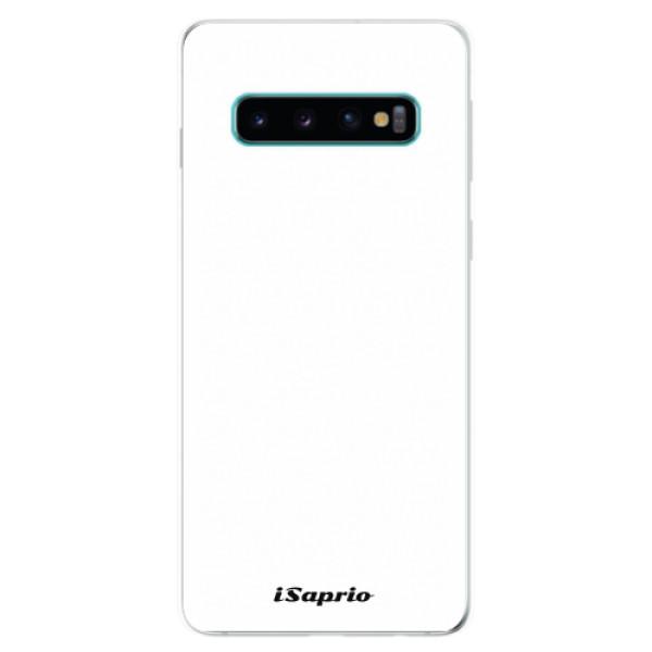 Odolné silikonové pouzdro iSaprio - 4Pure - bílý - Samsung Galaxy S10