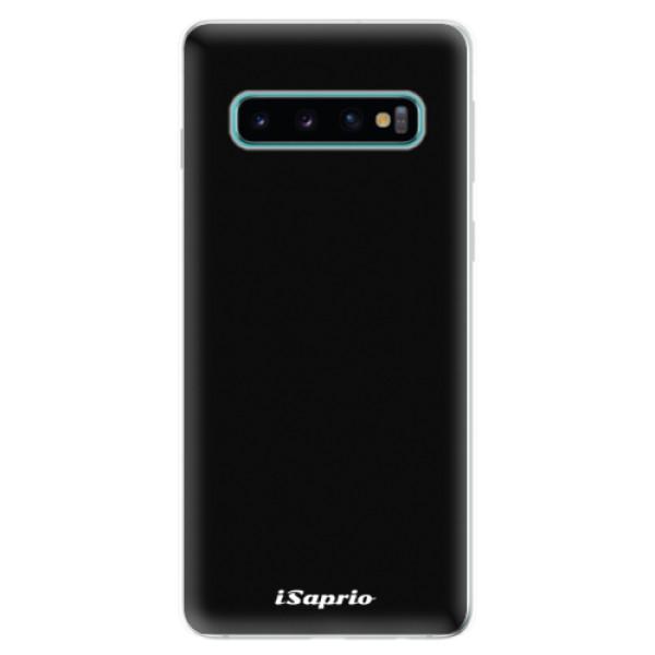 Odolné silikonové pouzdro iSaprio - 4Pure - černý - Samsung Galaxy S10