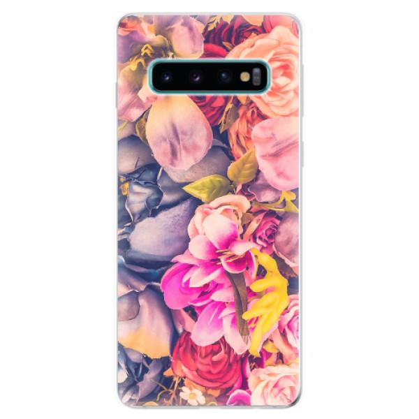 Odolné silikonové pouzdro iSaprio - Beauty Flowers - Samsung Galaxy S10