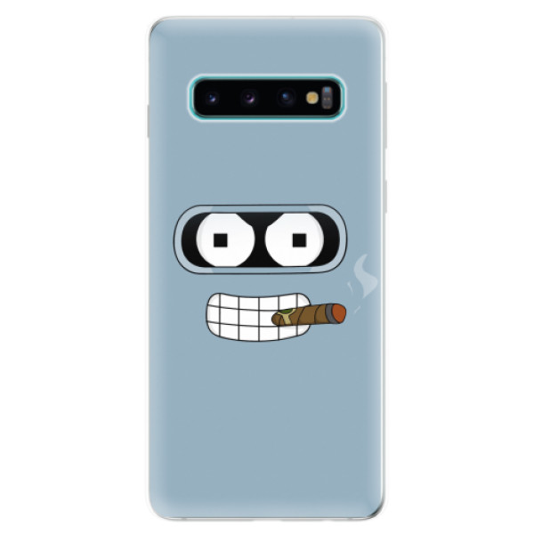 Odolné silikonové pouzdro iSaprio - Bender - Samsung Galaxy S10
