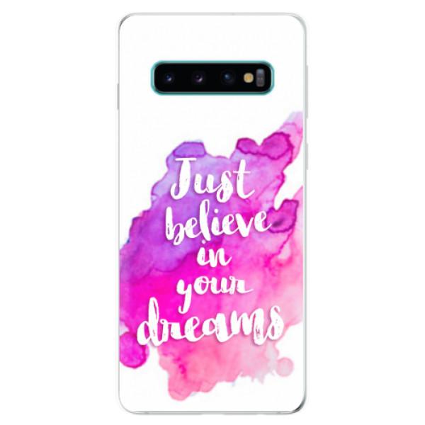 Odolné silikonové pouzdro iSaprio - Believe - Samsung Galaxy S10