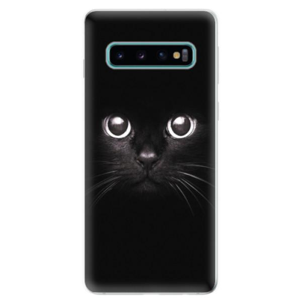 Odolné silikonové pouzdro iSaprio - Black Cat - Samsung Galaxy S10