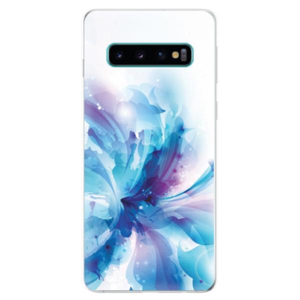 Odolné silikonové pouzdro iSaprio - Abstract Flower - Samsung Galaxy S10