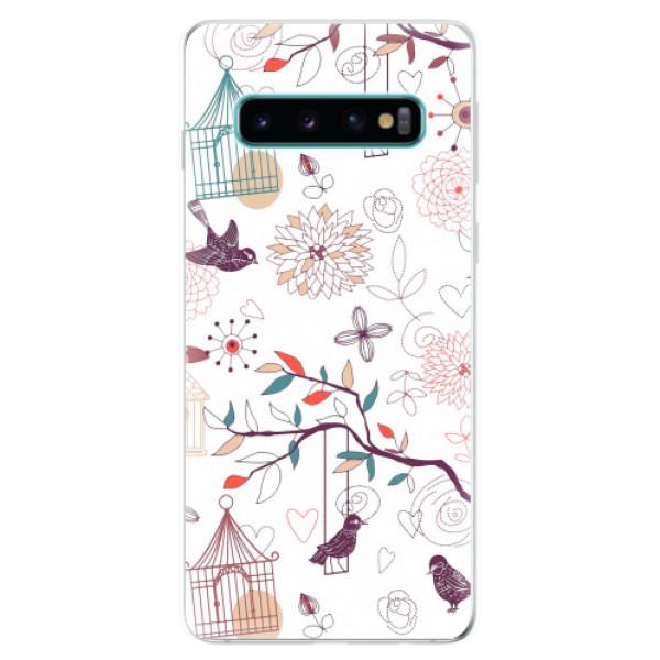 Odolné silikonové pouzdro iSaprio - Birds - Samsung Galaxy S10