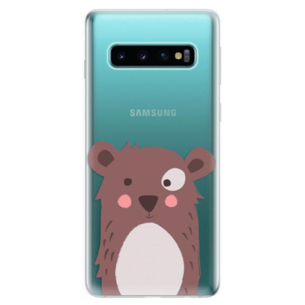 Odolné silikonové pouzdro iSaprio - Brown Bear - Samsung Galaxy S10