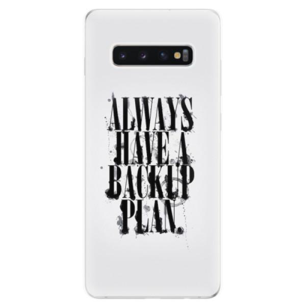 Odolné silikonové pouzdro iSaprio - Backup Plan - Samsung Galaxy S10+