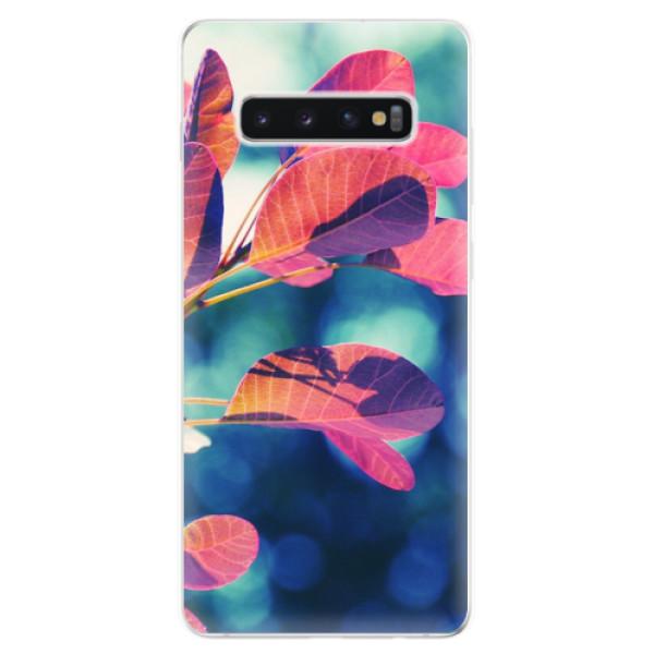Odolné silikonové pouzdro iSaprio - Autumn 01 - Samsung Galaxy S10+