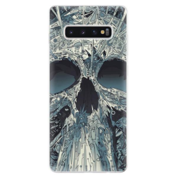 Odolné silikonové pouzdro iSaprio - Abstract Skull - Samsung Galaxy S10+