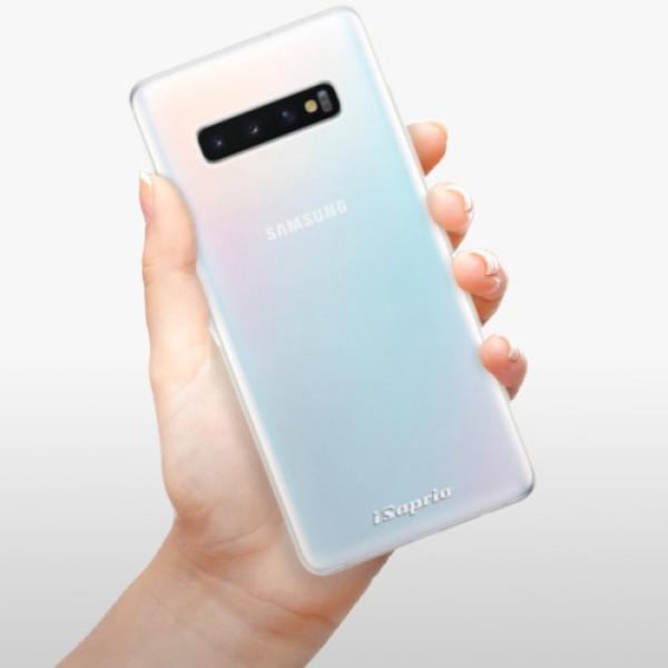 Odolné silikonové pouzdro iSaprio - 4Pure - mléčný bez potisku - Samsung Galaxy S10+