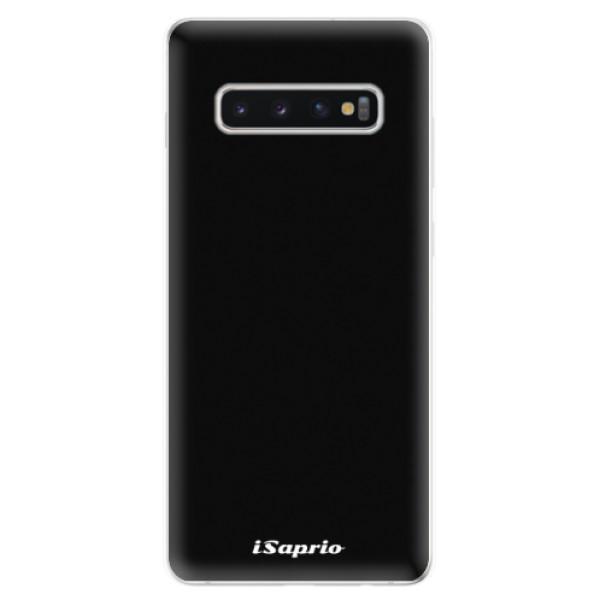 Odolné silikonové pouzdro iSaprio - 4Pure - černý - Samsung Galaxy S10+
