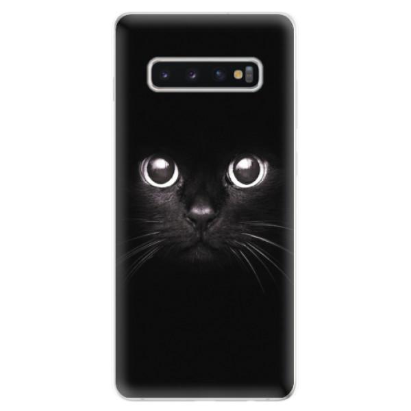 Odolné silikonové pouzdro iSaprio - Black Cat - Samsung Galaxy S10+
