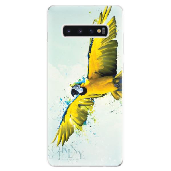 Odolné silikonové pouzdro iSaprio - Born to Fly - Samsung Galaxy S10+