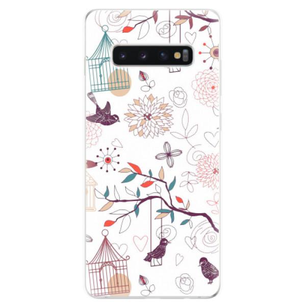 Odolné silikonové pouzdro iSaprio - Birds - Samsung Galaxy S10+