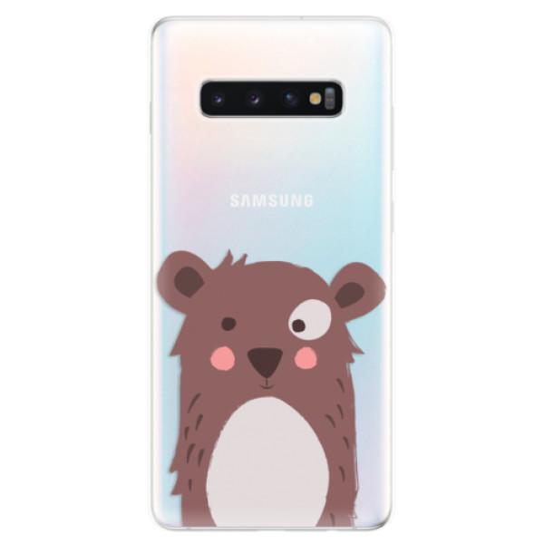 Odolné silikonové pouzdro iSaprio - Brown Bear - Samsung Galaxy S10+